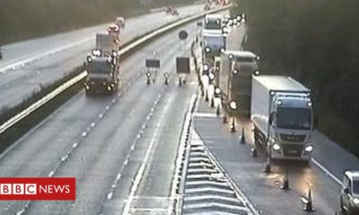 M4 closed both ways after two accidents in the early hours