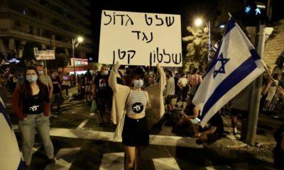 Thousands Protest Israel Prime Minister Benjamin Netanyahu in Jerusalem Despite COVID-19 Lockdown