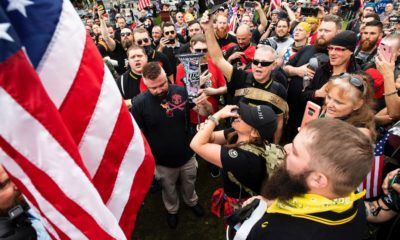 Dozens in Militarized Body Armor Arrive for Right-Wing Rally in Portland